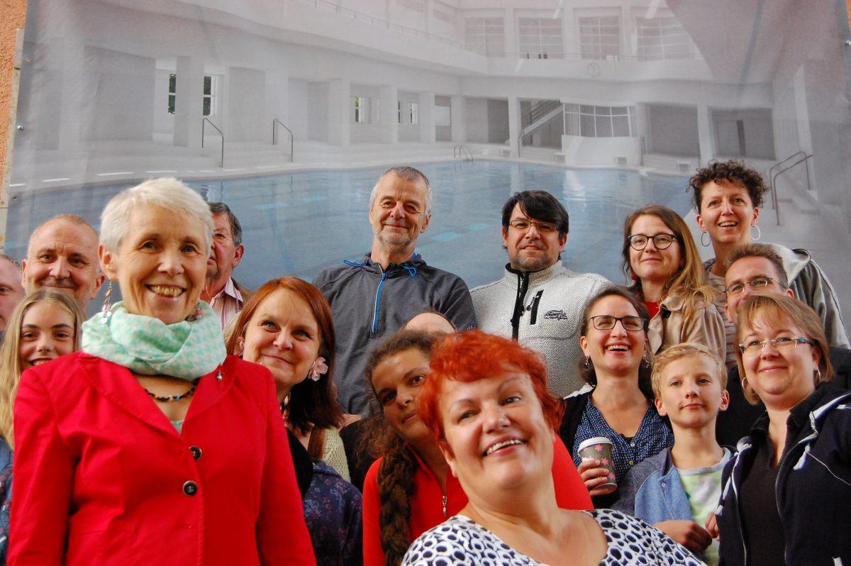 Danke für die Unterstützung – Kulturbürgermeisterin, Stadträtinnen und Stadträte, Bürgerinnen und Bürger unterstützen Revitalisierung Sachsenbad