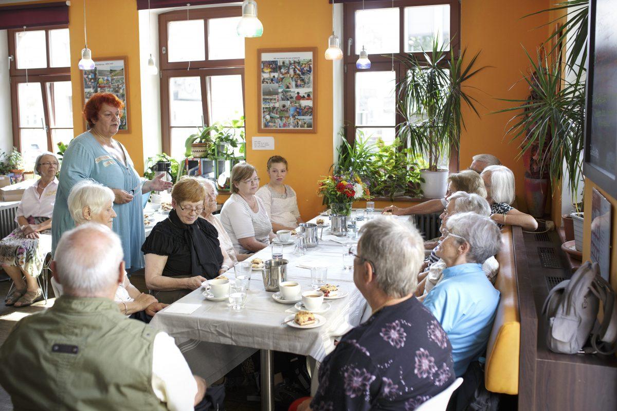 Treffen mit Zeitzeugen am 18. August 2018 im Stadtteilhaus EMMERS, Foto: Claus Gigga